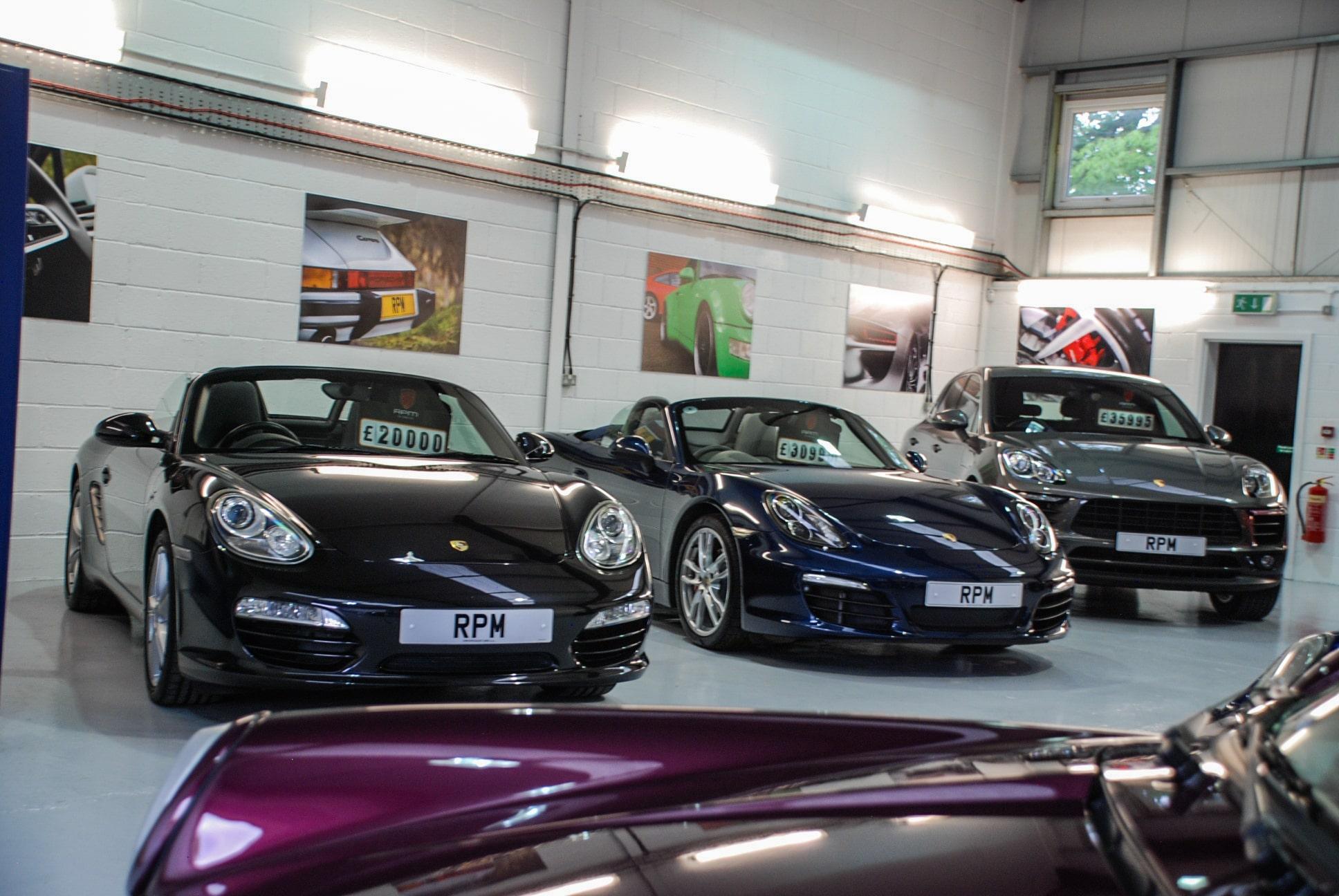 RPM Specialist Cars Porsche Showroom